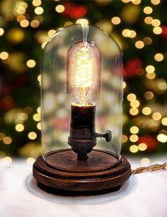 Edison Lamp - Desk Lamp - Steampunk Light - Industrial Lamp - Colonial Light - BULB INCLUDED - Table Lamp. $89.00, via Etsy.