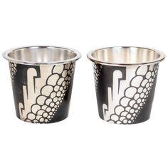 Rudolf Rieger / WMF Ikora Germany Art Deco Dinanderie Pair of Vases c. 1930 | 1stdibs.com