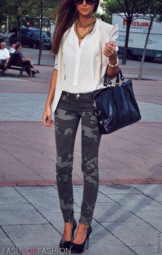 Camo jeans.