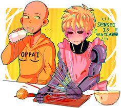 One Punch Man, Genos and Saitama