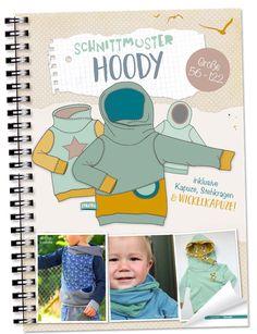 Lybstes Kids Hoody Kapuzenpullover selber nähen, Schnittmuster/ E-Book neu im Shop