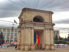 Victory arch in Chisinau Moldova