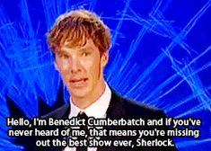 What's he talking about? *gasps* You mean there are people who don't watch Sherlock??? O_O That's it. I'm going to find Moriarty and have him deal with this...