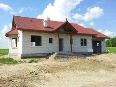 Stan surowy Niezapominajki z garażem  #projekt #dom #budowa