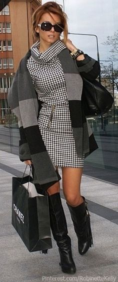 #Street_Style | Black and White, #Chanel