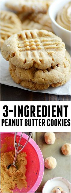 You 3 ingredients and 10 minutes away from these amazingly easy and deliciously soft peanut butter cookies!
