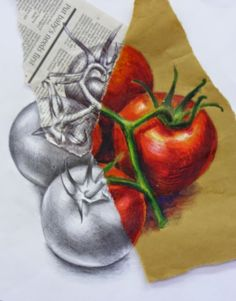 Leaving Cert Art College of Commerce: Still Life Drawing Exam resourses (food art lessons)
