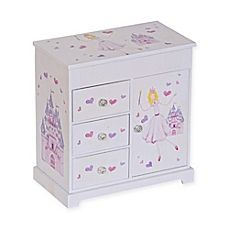 image of Mele & Co. Adalyn Girl's Musical Ballerina Jewelry Box in White/Pink
