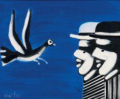 Γαϊτης Γιάννης – Giannis Gaitis [1923-1984]   paletaart - Χρώμα & Φώς Bird, Animals, Animales, Animaux, Birds, Animal Memes, Animal, Animais, Dieren