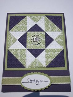 Quilt Card by mhbookmom - Cards and Paper Crafts at Splitcoaststampers