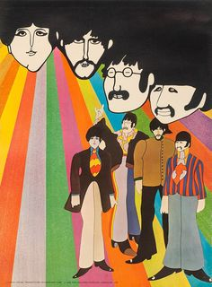Beatles Poster Print, Yellow Submarine 1968 Art Inches x 24 Inches), Beatles Yellow Submarine 1968 Poster Print, Beatles Posters/Wall Art, Beatles Merchandise Beatles Poster, Les Beatles, Beatles Art, Yellow Submarine Movie, Le Vent Se Leve, Liverpool, Retro Pop, Psychedelic Art, Giclee Print