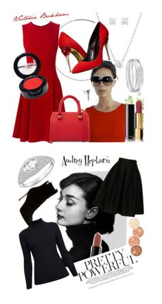 """Faces and Fashion"" by shazreenrzl ❤ liked on Polyvore featuring Dolce&Gabbana, Swarovski, Chanel, Victoria Beckham, Oscar de la Renta, Manic Panic NYC, Fashionomics, Smashbox, Sergio Rossi and Rumour London"