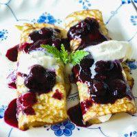 Paleo Blueberry Breakfast Crepes