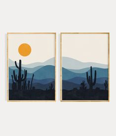 Abstract Geometric Art, Abstract Wall Art, Abstract Landscape, Art Above Bed, Above Bed Decor, Cactus Wall Art, Floral Wall Art, Sun Prints, Wall Art Prints