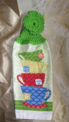 Tea Time Hanging Kitchen Towel by Tambowsdesigns on Etsy, $3.25