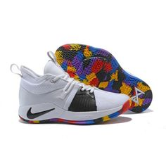 bb5c7048060 Order Nike PG 2 Paul George Basketball Shoes White Multi-Color New  Basketball Shoes