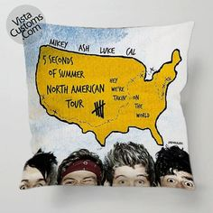 5 Seconds of Summer North America tour pillow case, cover ( 1 or 2 Side Print With Size 16, 18, 20, 26, 30, 36 inch )
