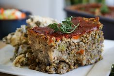 8 Last Minute Thanksgiving Vegan Recipes - High Carb Hannah Vegan Foods, Vegan Dishes, Vegan Meals, Lentil Recipes, Vegetarian Recipes, Healthy Recipes, Healthy Dinners, Lentil Loaf Vegan, Mcdougall Recipes