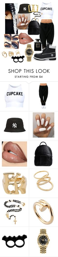 """""""Cupcake no fillin"""" by mzjessicarabbit ❤ liked on Polyvore featuring Alexander Wang, CC SKYE, Elizabeth and James, Bling Jewelry, Cartier, L'Artisan Créateur, Rolex and Chanel"""