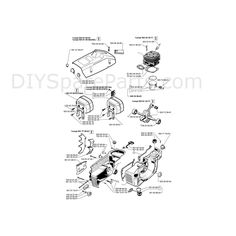 view husqvarna 61 chainsaw parts diagram , page 2 to easily locate and buy  the spares that fit this machine
