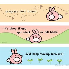 Cute and motivational drawings to brighten your day! My name is Jacqueline, but you can call me Jackie. ^^ I started chibird in my second year of high school, and now I've graduated college! This is. Cute Motivational Quotes, Cute Inspirational Quotes, Cute Quotes, Quotes Gif, Lds Quotes, Daily Motivation, Motivation Inspiration, Positive Inspiration, Yoga Inspiration