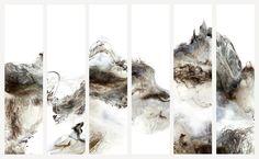 云开空自阔   2012   Lu Jun Digital Ink   Link:  http://lujun.artron.net