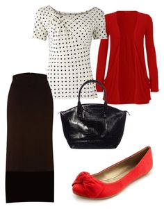 red with black and white by holiness-preachers-wife on Polyvore featuring polyvore, fashion, style, People Tree, Label Lab, Charlotte Russe, Jane Norman and holiness modest