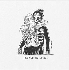 Artist's Skeletal Illustrations Show The Glimpse Of Intense Love With Beautiful Messages Under Your Spell, Dark Love, Arte Obscura, Intense Love, Skeleton Art, Dope Art, Skull Art, Art Inspo, Character Art