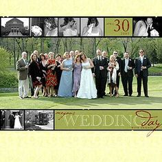 This Page Design Is Unique, A Lengthy Picture Of A Large Family Can Be Difficult To Work With