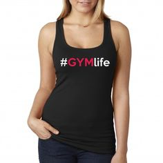 #GYMLIFE tank top now available in women's sizes! #fitness #girltank #gymtank #workout