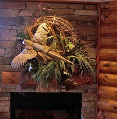Twig Wreath with Pheasant by Woodland Creek Furniture.