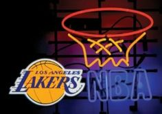 "Neon Sign NBA Los Angeles Lakers El Glo 27.5""x 18.5""x 7.5"" 260029 By On The Edge"