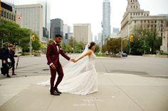 University of Toronto Club Wedding Pictures. Could crossing University Avenue :-) Wedding Poses, Wedding Suits, Wedding Engagement, Engagement Photos, Posing Guide, Posing Ideas, Diy Backdrop, Backdrops, Toronto Street