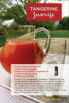 Tangerine Sunrise frozen drink