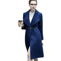 Product review for Mandy's Women's Autumn Winter Women's Long Wool Coat with Belt.  - Superior wool and polyester lining It has excellent windproof and warm-keeping quality. Fashion design,Simple lines,Warm and Graceful looking Our products are labelled in Asian Size which is smaller than US/UK/EU/AU standard sizes. Please pay special attention to our size chart(Asian...
