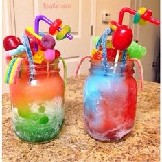 Drunken Candy Popsicle Slushie