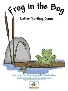 teacher notebook, pond theme, frog theme, pond life, frogs, sound sort, letters, cards, letter sounds