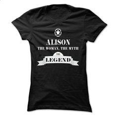 ALISON, the woman, the myth, the legend - #sweatshirt women #sweater vest. ORDER NOW => https://www.sunfrog.com/Names/ALISON-the-woman-the-myth-the-legend-rjvyhcswtg-Ladies.html?68278