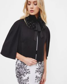 TIE AND COLLAR FEATURE JACKET - Black | Jackets & Coats | Ted Baker