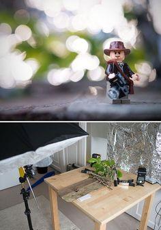 Indy Indoors - New Ideas Miniature Photography, Figure Photography, Lego Photography, Macro Photography, Creative Photography, Lego Disney, Lego Poster, Lego Hacks, Foto Fun