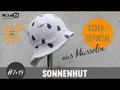 Einen süßen Musselin Sonnenhut ganz einfach selber Nähen/ DIY-Näh-Tutorial - YouTube