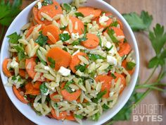For Wheat Free, I would sub 2/3 cup uncooked white rice for the orzo. Carrot & Orzo Salad - Budget Bytes