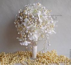 Wedding Brooch Bouquets, Flower Bouquets, Fabric Flowers, Wedding Bouquets, Floral Bouquets, Cloth Flowers, Bouquet Of Flowers