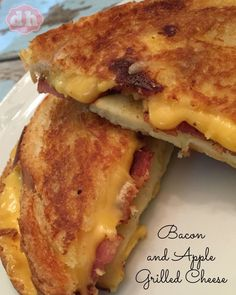 Bacon and Apple Grilled Cheese There's something about comfort food. For me there's a few that remind me of my mom. One of those foods is a grilled cheese