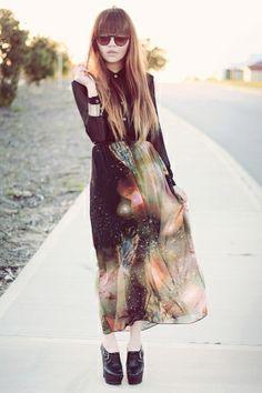 Galaxy skirt by ana9112