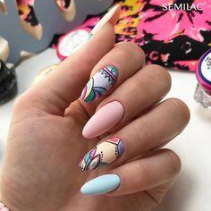Nail art Christmas - the festive spirit on the nails. Over 70 creative ideas and tutorials - My Nails Elegant Nails, Stylish Nails, Trendy Nails, Cute Nails, Pastel Nails, Pink Nails, Gel Nails, Colorful Nails, Nail Nail