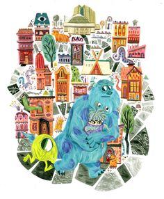 Monsters, Inc by Meg Hunt