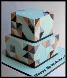 Geometric cake   Flickr - Photo Sharing!