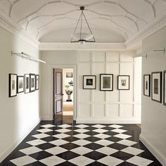11 Rooms with Black and White Floors