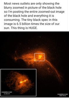 The Full Monty of that Black Hole space universe science photo is part of Space facts - Astronomy Facts, Space And Astronomy, Astronomy Science, Nasa Space, Science Photos, Science Facts, The More You Know, Good To Know, Cosmos